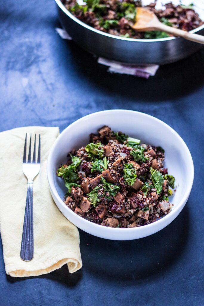 One-Pot Sausage, Kale and Quinoa