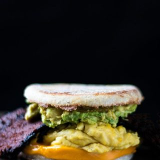 Bodega Breakfast Sandwich with Avocado | www.thenutfreevegan.net