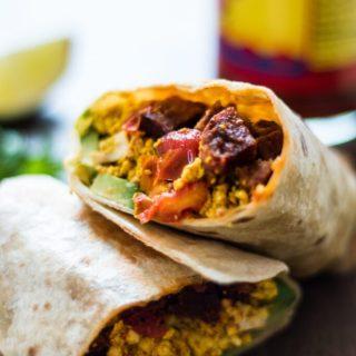Vegan Chorizo and Tofu Breakfast Burrito | www.thenutfreevegan.net