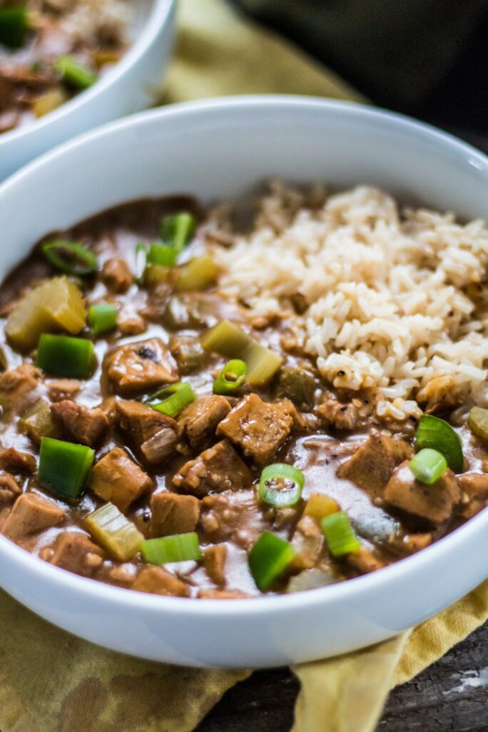 Delicious spicy vegan gumbo