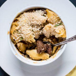 Vegan Philly Cheesesteak Mac and Cheese   www.thenutfreevegan.net