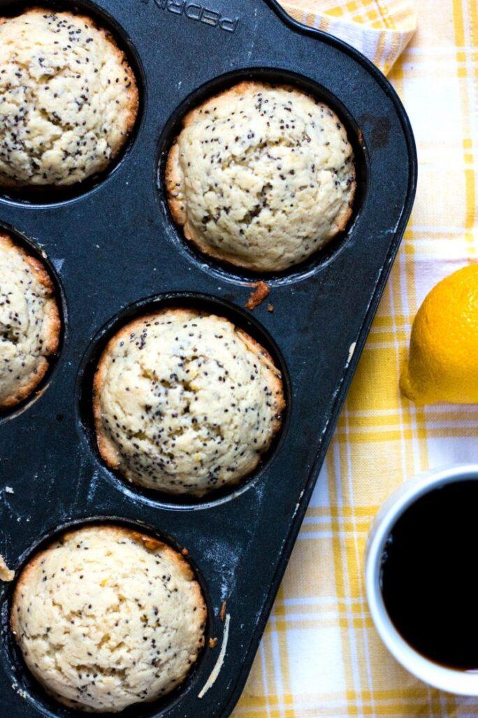 Easy dairy-free Lemon Chia Seed Muffins