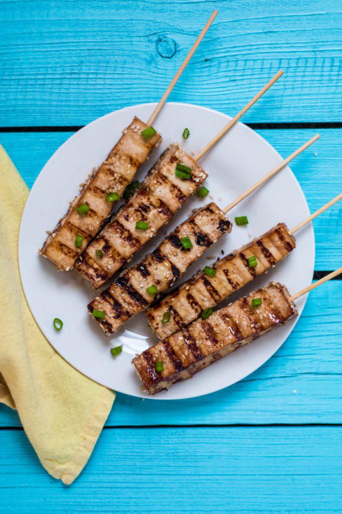 Vegan Teriyaki Tofu Skewers Appetizer Vegan Nutfreevegan