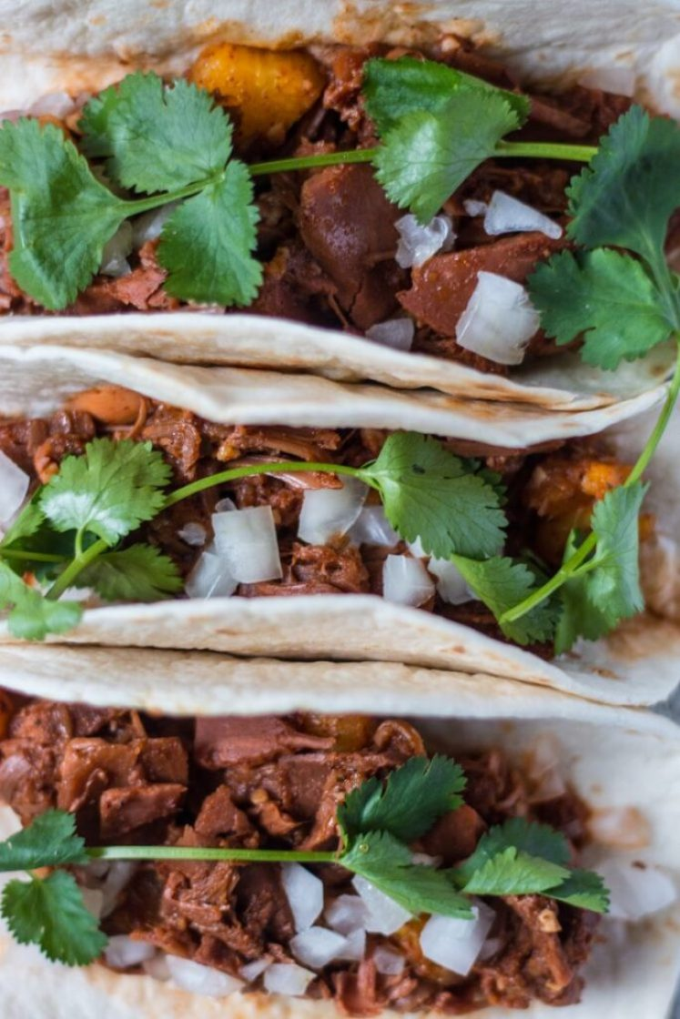 SImple, delicious Jackfruit Tacos Al Pastor Vegan Nut-Free Nutfreevegan