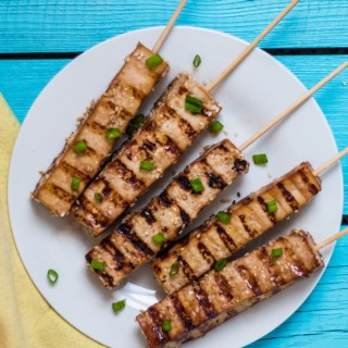Easy Tofu Teriyaki Skewers