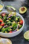 Southwestern Detox Salad Vegan Nut-free Nutfreevegan