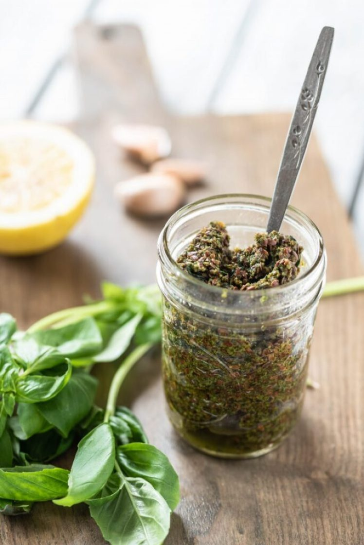 Easy Nut-Free Pesto Nutfreevegan