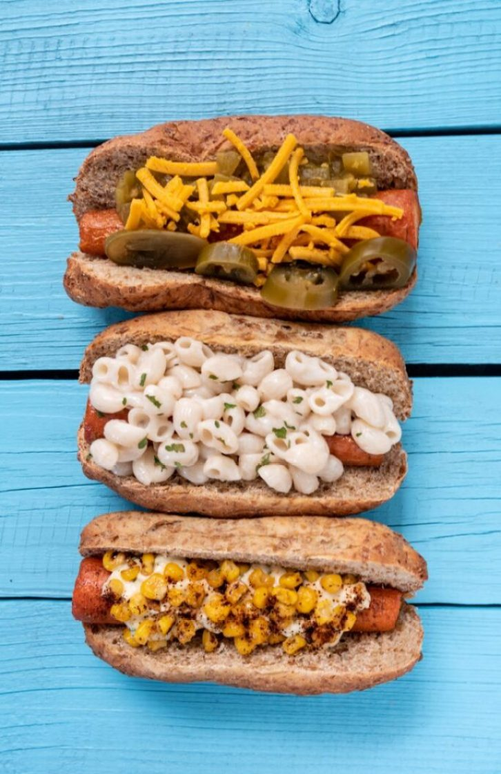 Ballpark Carrot Dogs, Three Ways Vegan