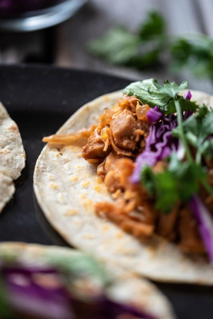Slow Cooker Jackfruit Bulgogi Tacos