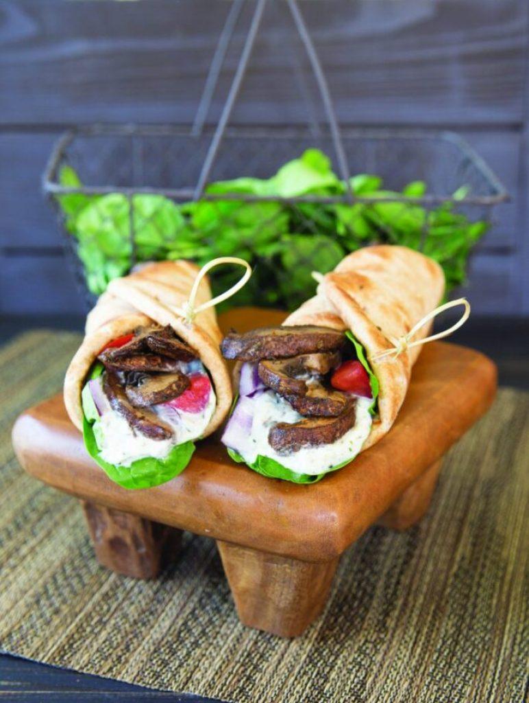 Portabella Mushroom Gyros The High-Protein Vegan