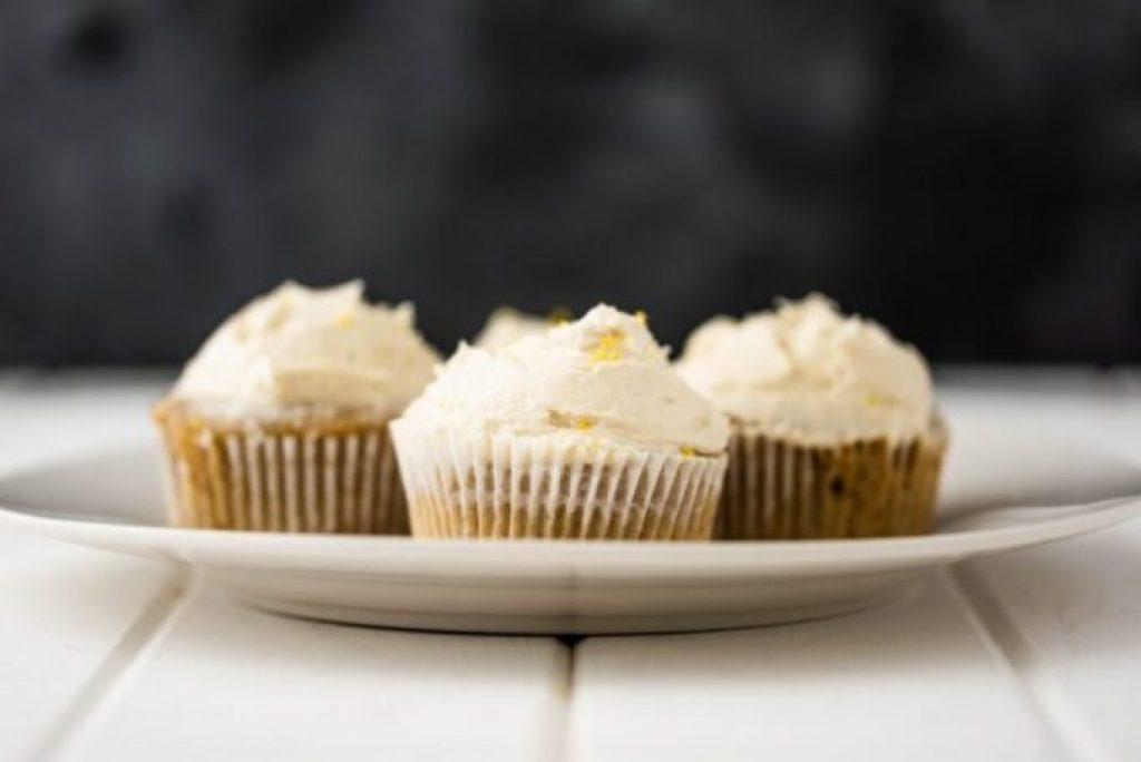 Earl Grey Cupcakes with Lemon Buttercream Icing Nutfreevegan