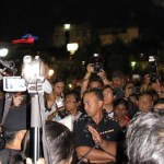 """Police greeted the protesters and demanded their immediate dispersal of the """"illegal"""" assembly. The organisers said they had a permit from the Petaling Jaya City Council (MBPJ). But PJ police chief Arjunaidi Mohamed, who appeared later on the scene, said the MBPJ had no authority to issue such permits. He added that no police permit had been applied for for the gathering."""