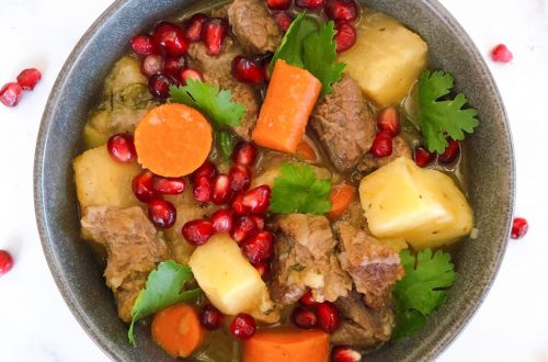Paleo Beef Stew with Sweet Potato and Celery Root
