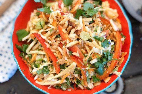 Vegan Thai Peanut Slaw