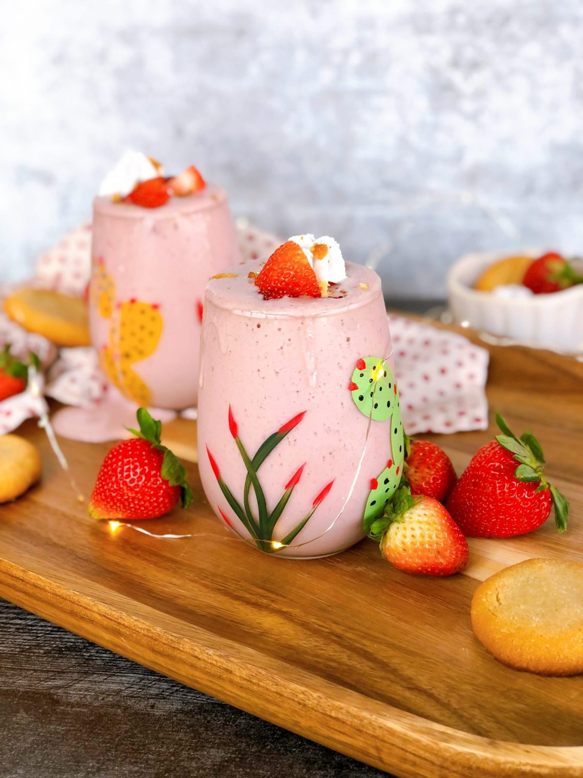 strawberry shortcake protein smoothie