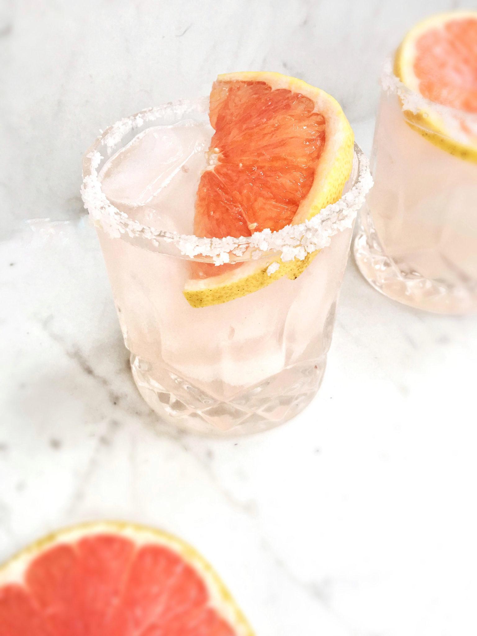 skinny pink grapefruit margarita