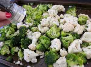 Simple Roasted Broccoli & Cauliflower