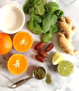 Tangerine-Lime Green Smoothie