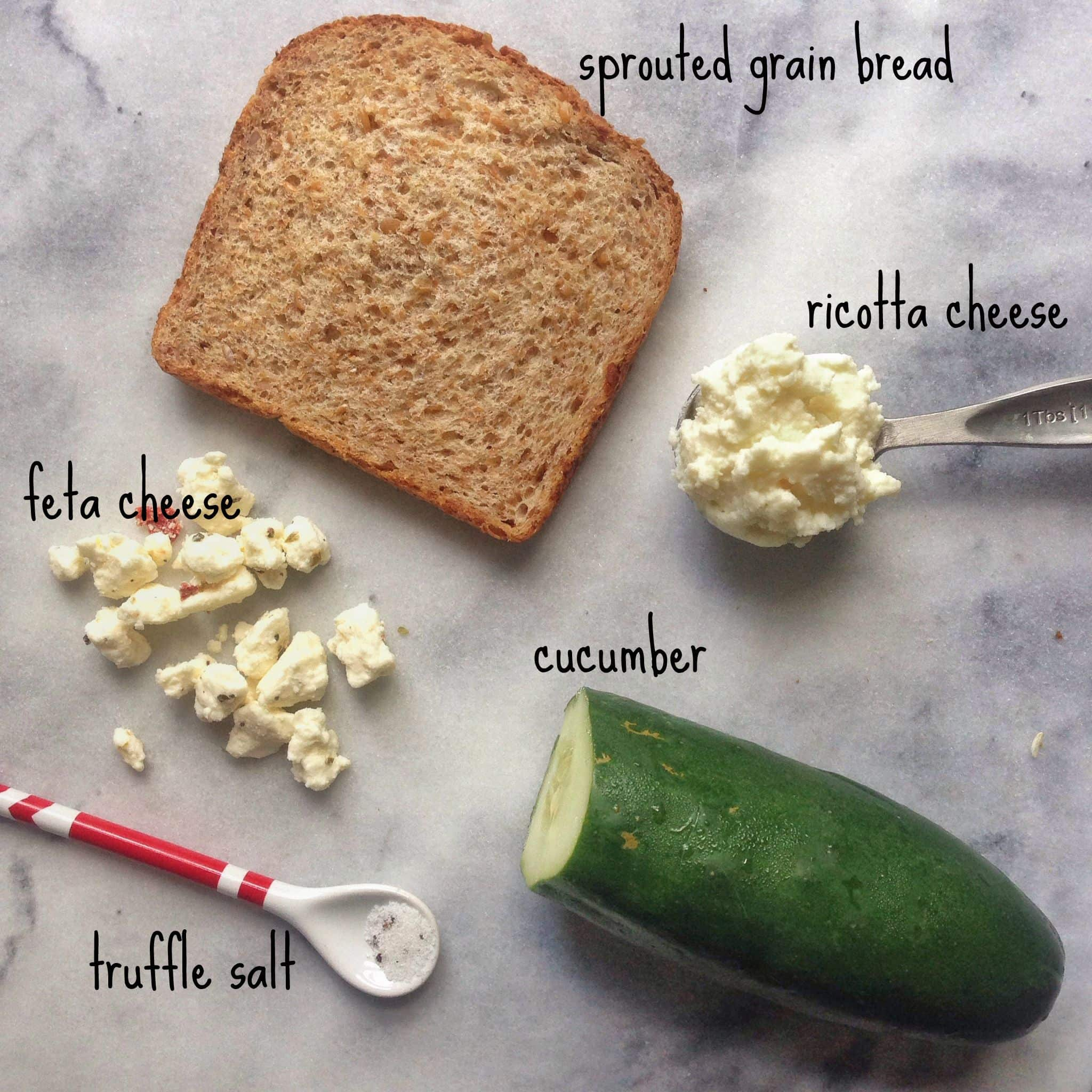 Cucumber Tartine | Meals For One