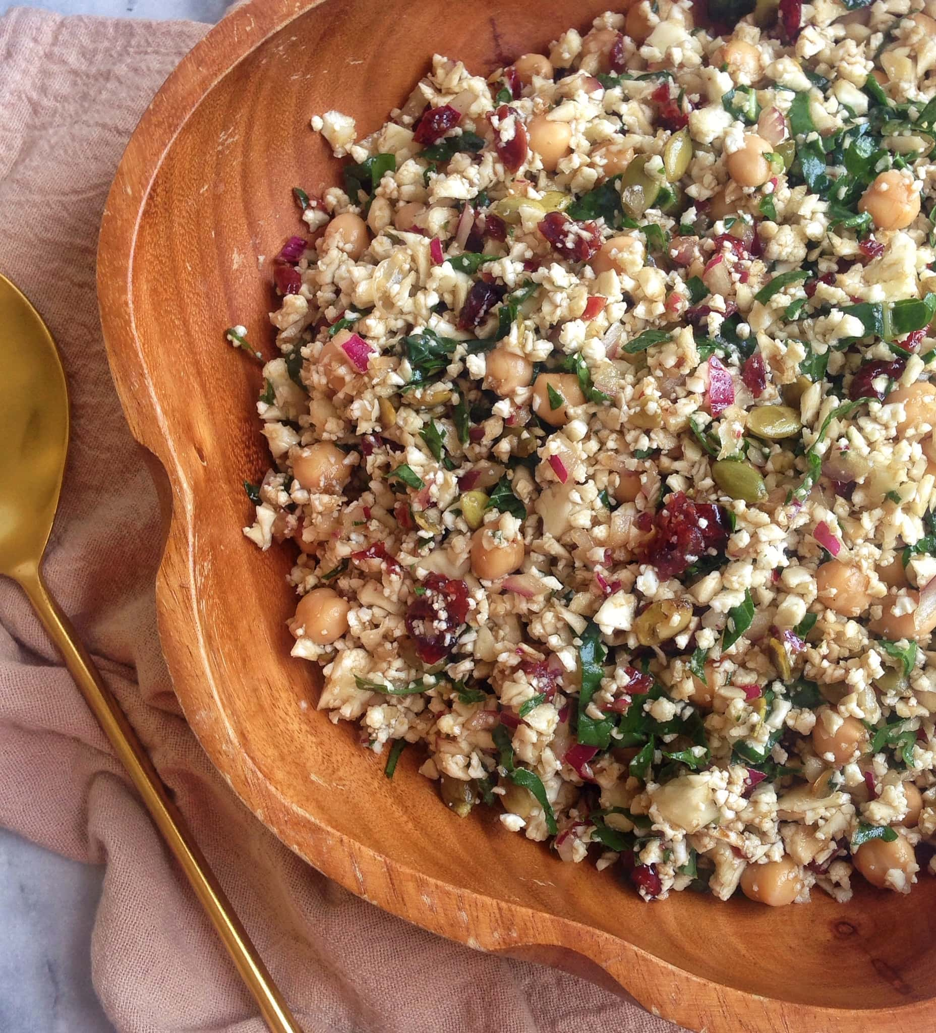 Cauliflower Cranberry Superfood Salad | The Nutrition Adventure