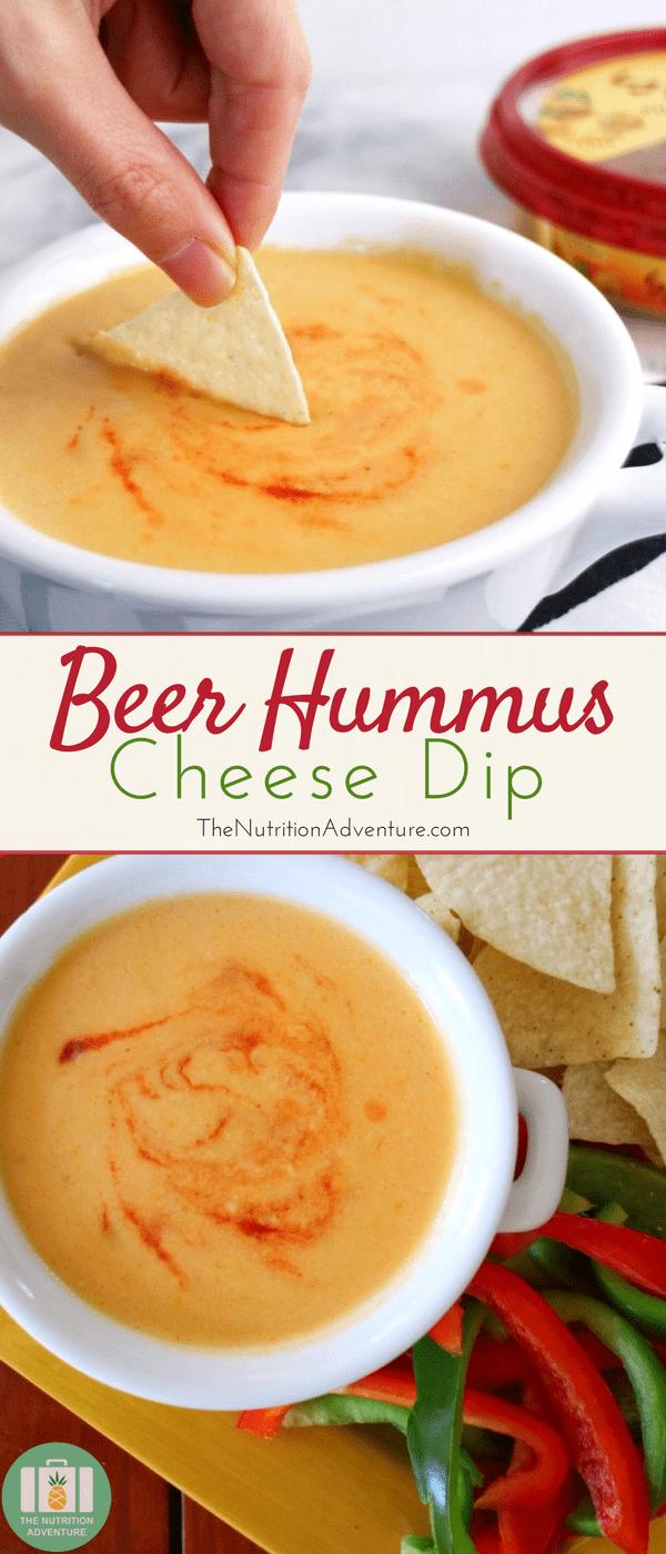 Beer Hummus Cheese Dip | The Nutrition Adventure