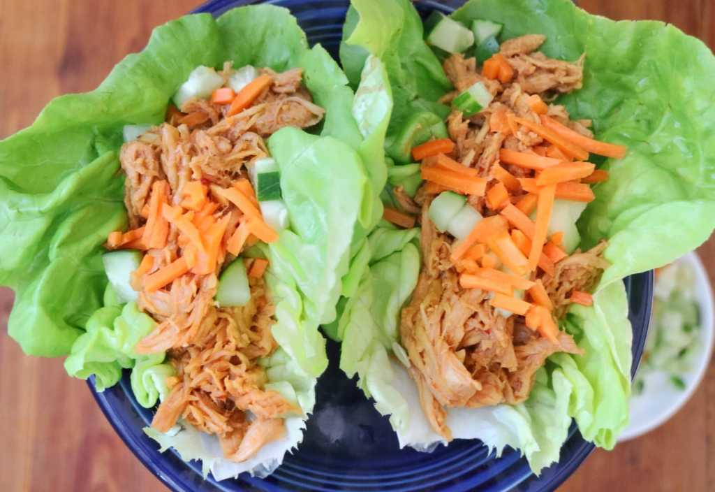 Thanksgiving leftovers: Asian BBQ Turkey Lettuce Wraps