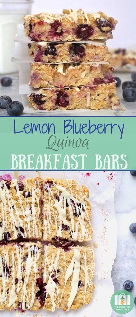 Lemon Blueberry Quinoa Breakfast Bars