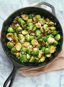 Brussels Sprouts with Pancetta & Parmesan