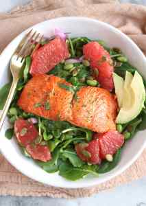 Grapefruit Salmon Salad | The Nutrition Adventure