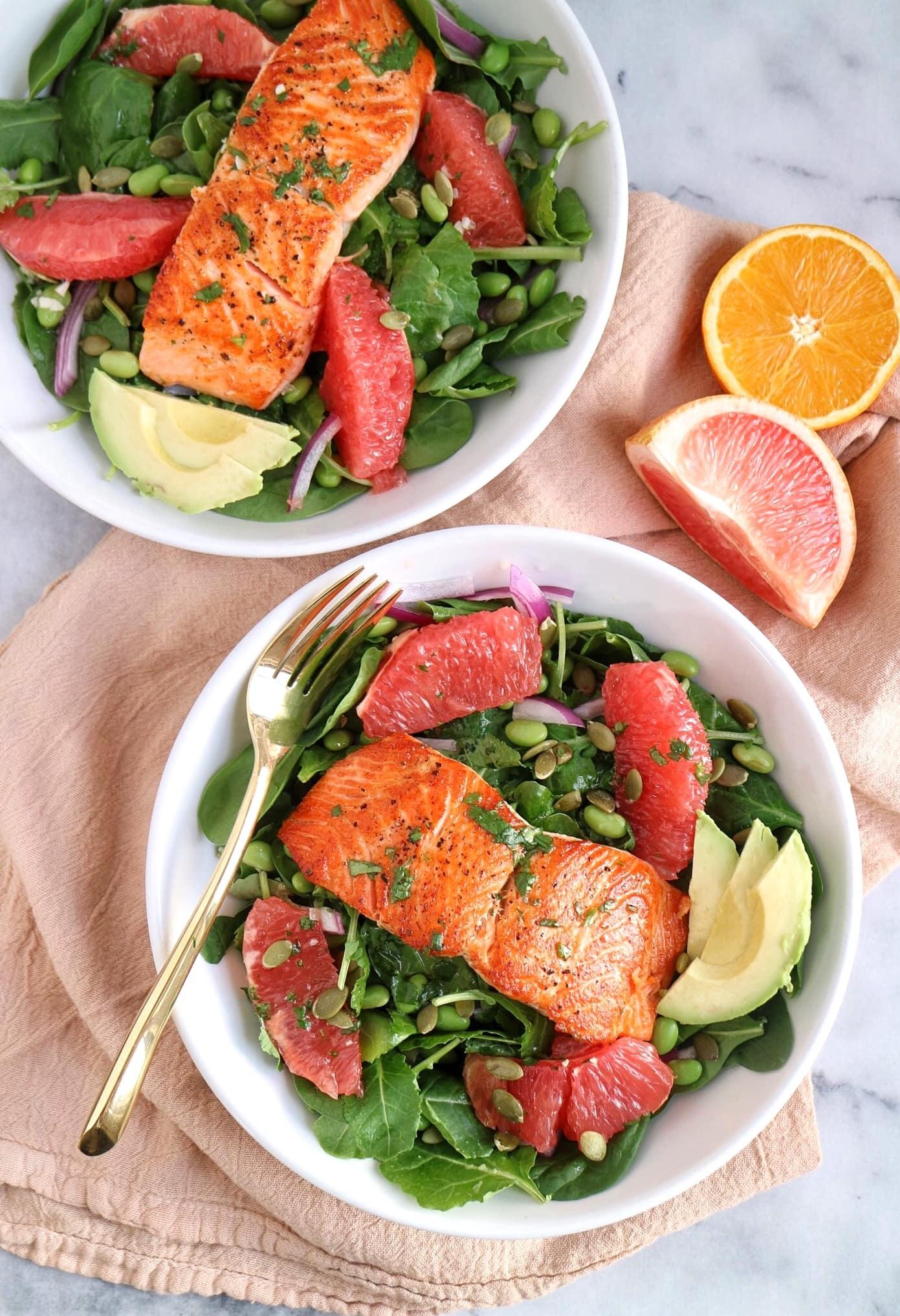 Grapefruit Salmon Salad