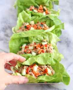 Zesty Tuna Lettuce Wraps