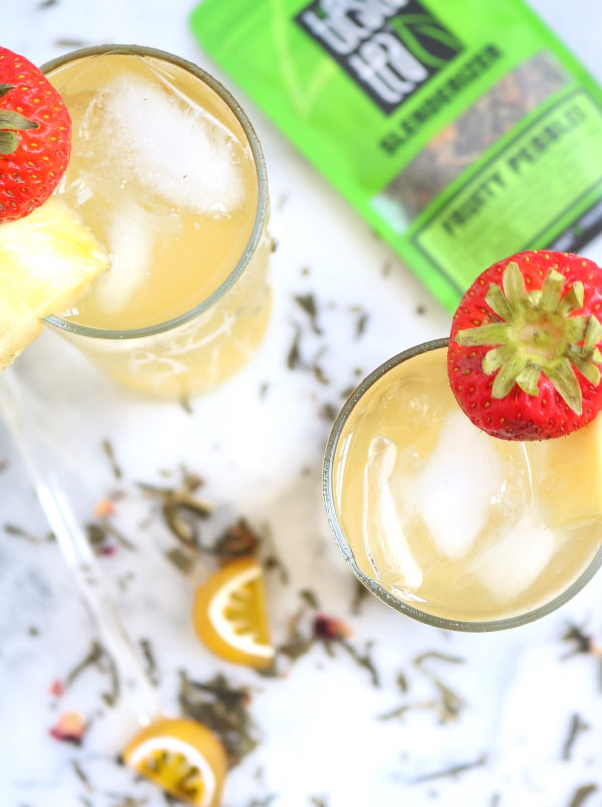 Fruity Green Tea Spritzer | The Nutrition Adventure