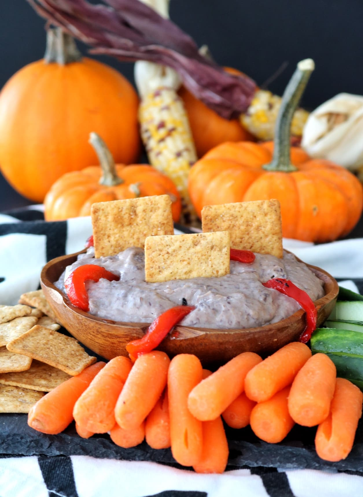 Spooky Black Bean Hummus | The Nutrition Adventure