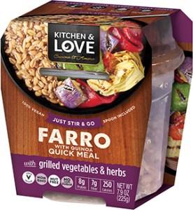 Kitchen & Love Farro Quick Meal