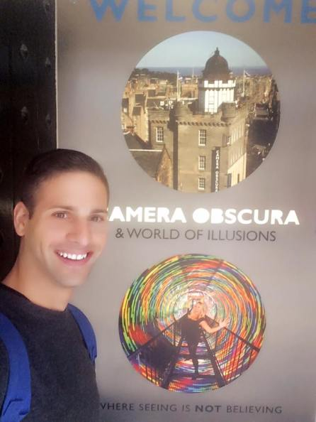 Entrance to Camera Obscura, Edinburgh.