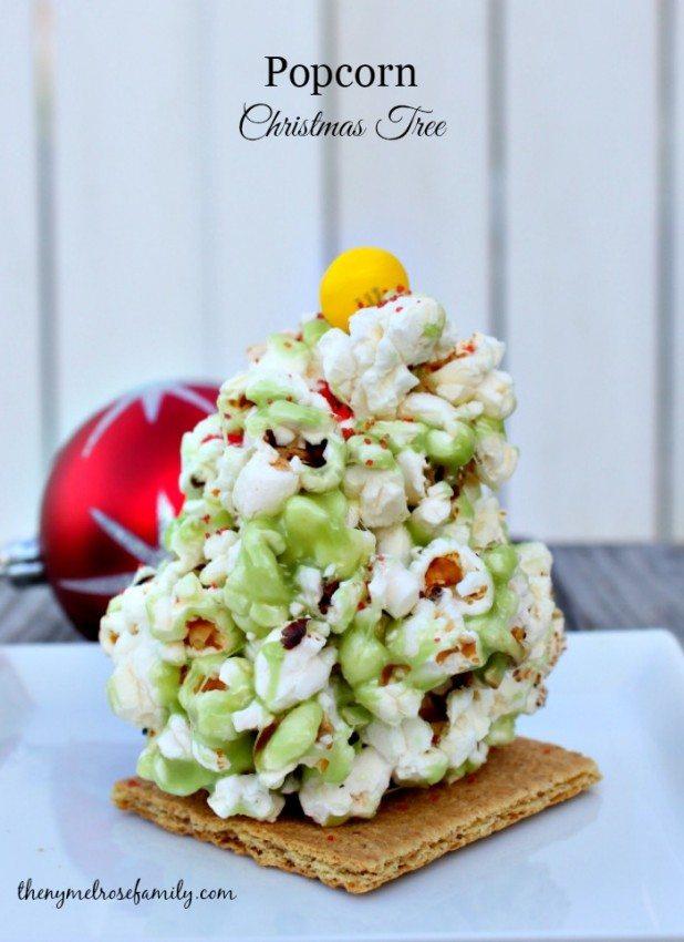 HAPPY Holidays: Popcorn Christmas Trees - Tatertots and Jello