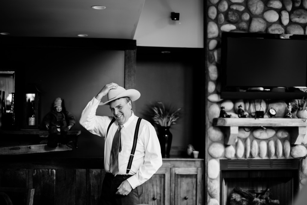 father of bride in cowboy hat