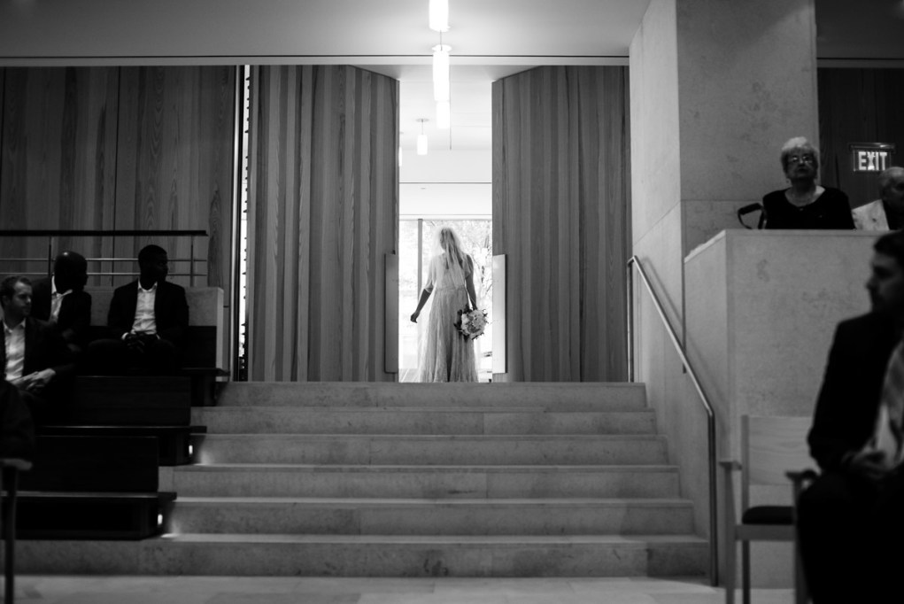 washington dc church wedding ceremony bride entering