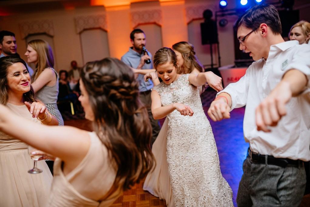 wv winter wedding crank that reception dancing