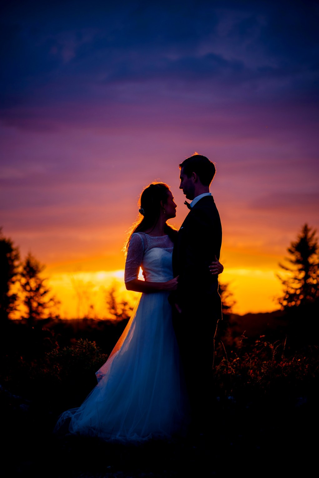 wv wedding silhouette at sunset dolly sods