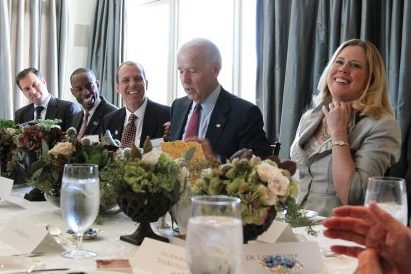Kristin Oblander and Vice President Joe Biden