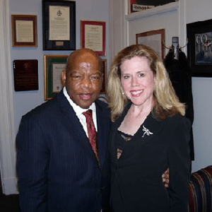 Kristin Oblander and Congressman John Lewis
