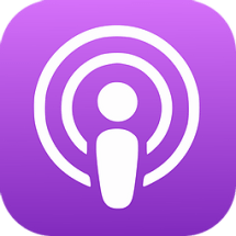 The apple podcast logo.
