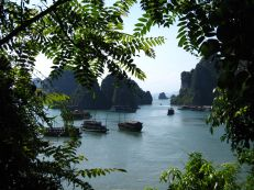 """Halong Bay from the """"Amazing Cave"""""""