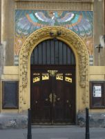 Egyptian inspired entrance, Prague