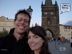 Eric and Chelsea in front of Charles Bridge