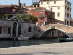 View of canal from Campo di S.S. Giovanni e Paolo, Venice Italy