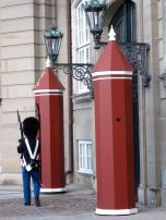 Royal Guards, constantly surveying the courtyard. Note how their little shelters have heart windows!