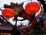 This dragon is part of the only roller coaster in Tivoli