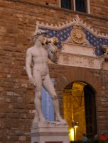 The faux David they keep in the Piazza, the real one is safe in the museum
